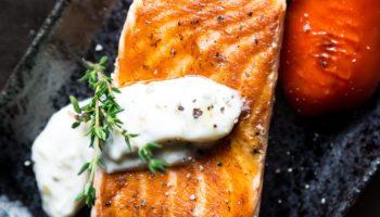 Salmon with Creamy Horseradish Sauce
