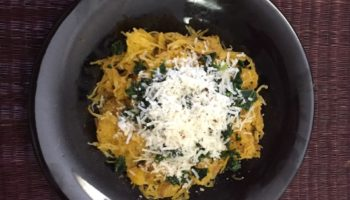 Roasted Spaghetti Squash With Kale and Parm